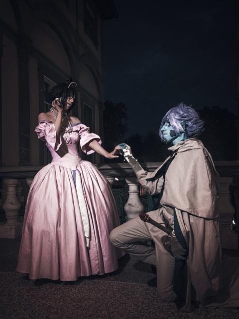 Amelia Wil Tesla Seyruun (Princess Dress) and Zelgadis Greywords